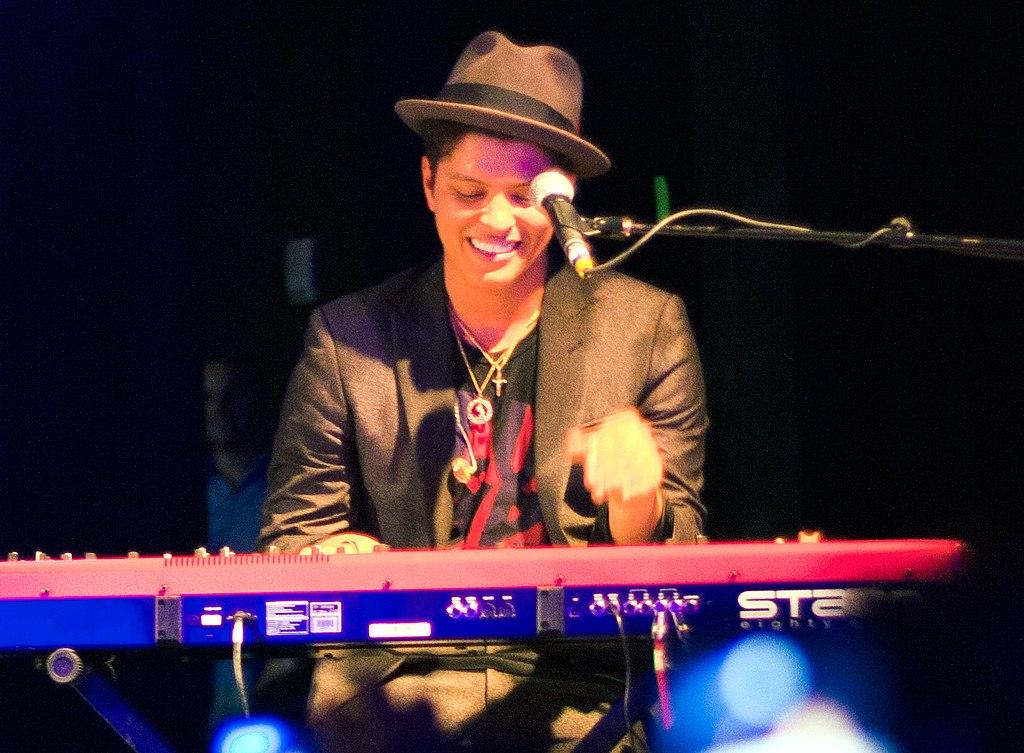 Bruno Mars, en prisbelönt artist